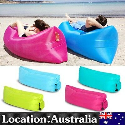 Inflatable Air Bag Sofa Lounge Sleeping bag Camping Bed Outdoor Beach Hangout AU