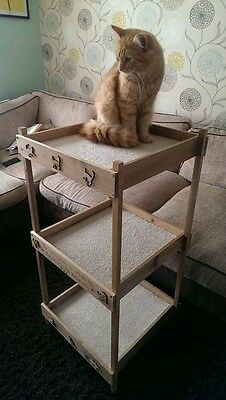 Cat Beds, Wooden Triple Bunkbed Handmade & Personalised