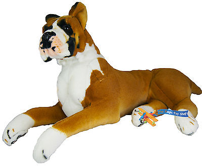 Large Boxer British Bulldog Dog Puppy Teddy Soft Cuddly Plush Toy Real Life Look