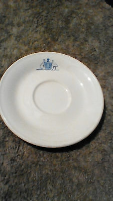 Vintage Military Forces China Saucer