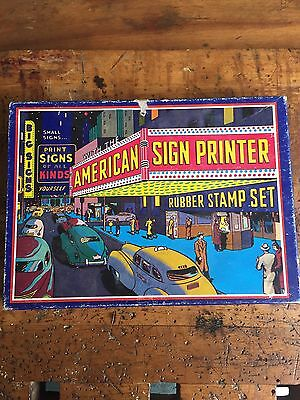 American Sign Printer Rubber Stamps