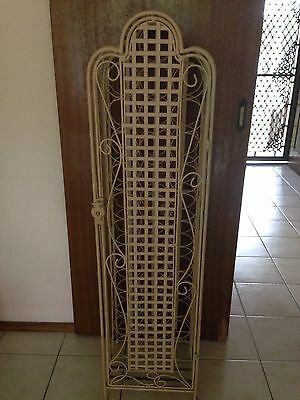 Vintage Cast Solid Heavy  French Provincial wine Rack With Open Latch That Locks