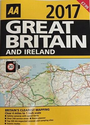 Aa 2017 Road Atlas Map Great Britain And Ireland Latest Edition New