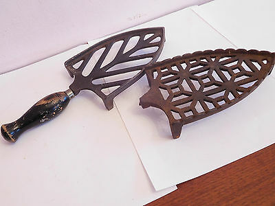 Found*antique Cast Iron Fireside  Trivet #3106 + Other For Repair