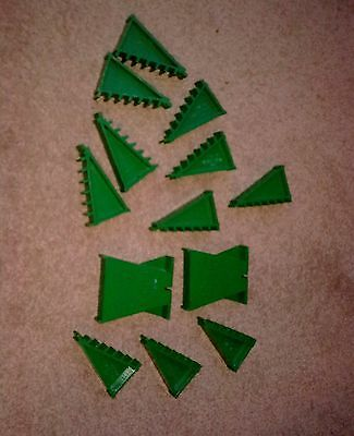 Vintage Tri-ang Scalextric Banked Track Supports and 2 Bridge Pillars