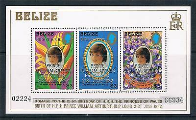 Belize 1982 Birth of Prince William SG MS 713 MNH