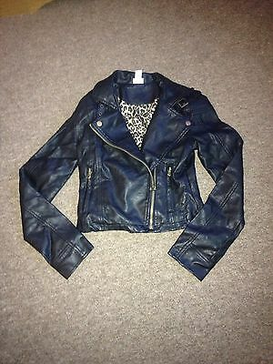 Girls Faux Leather Jacket 12-13yrs