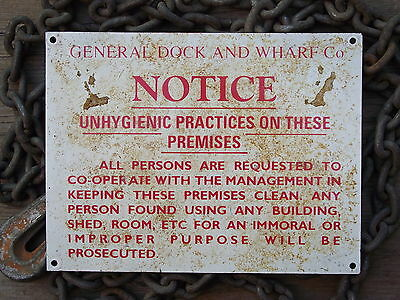 Used Sign Notice 2nd hand wall door plaque picture no great age