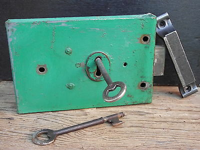 Reclaimed Vintage Lockable Rimlock & Keys old door lock bathroom front pine oak