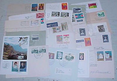 LIECHTENSTEIN  PICTORIAL CANCELS on 27 SMALL COVERS/CARDS