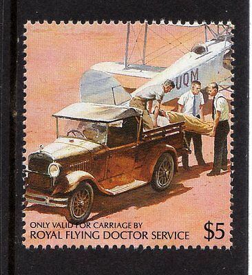 Royal Flying Doctor Service Australia Local Stamp,aircraft,car,carrier,nhm