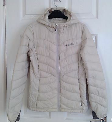 Mt Jade Puffa Padded Quilted Cream Hooded Jacket /Coat, Size Small 10/12