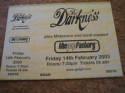 The Darkness: February 2003 gig ticket, mint