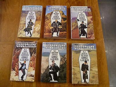 """All 6 """"The Undertaker"""" books by George G. Gilman in great condition"""