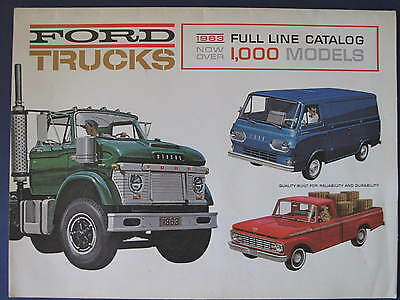 1963 Ford Trucks Full Line Sales Brochure C5857
