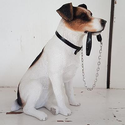 Jack Russell Walkies Sitting Dog Ornament Gift Boxed