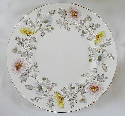 FOLEY England SOMERSET Lot of 6 Dinner Plates pretty floral gold rims