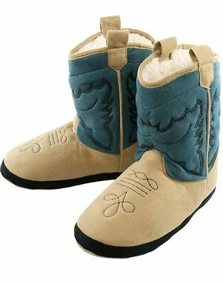 Cowboy boot slippers for everyone  Blue from Lazy One CHOOSE SIZE
