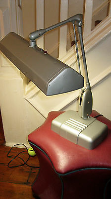 Vintage Dazor Floating Fixture Desk Drafting Lamp P-2324 Mid Century Industrial