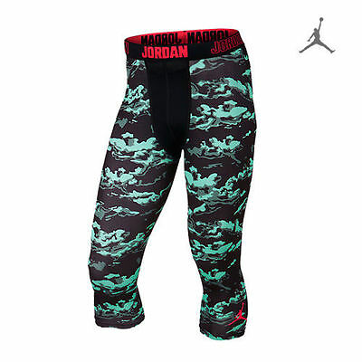 NIKE AIR JORDAN 'cloud camo' COMPRESSION tights basketball/running M BOTTOMS