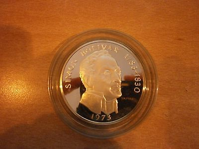 Mint Uncirculated & Boxed 1973 Panama 20 Balboa Coin.  4.5oz Sterling Silver.