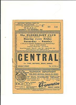 1963/64 FA Cup 1st round  Southport v Walsall