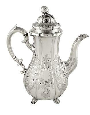 Superb Antique Victorian Sterling Silver Coffee Pot - 1840