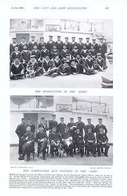 1896 Instructors Hms Lion Officers Marines Plymouth Division Duke Saxe-coburg