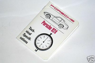 Porsche 924 Technical Specification Data Book. A Pocket Workshop Manual