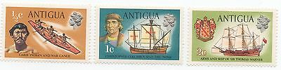 Antigua 1970 ships & boats stamps 3 values mint MNH