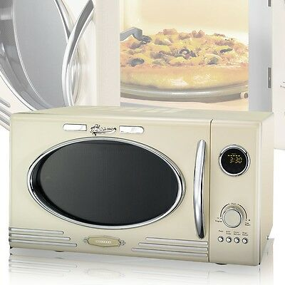 Microwave Oven Microwave Retro Beige Grill Microwave Cooker Microwave 25 Litre