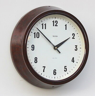 SMITHS ENGLISH 1970s Midcentury Vintage Retro Industrial Factory Clock School