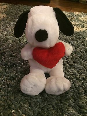 SNOOPY PLUSH Stuffed Animal HAPPY VALENTINES DAY HEART