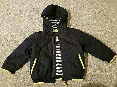 M&S Baby boys Navy hooded jacket 12-18 months