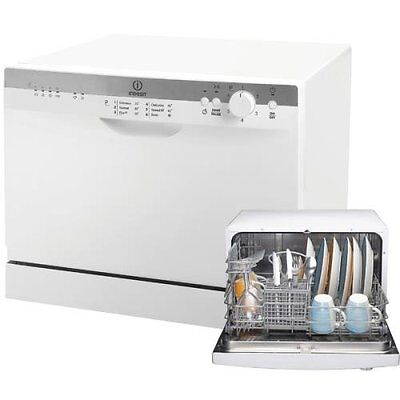 Indesit ICD661 Dishwasher - White Free Standing 56cm Compact 6 Place Dishwasher