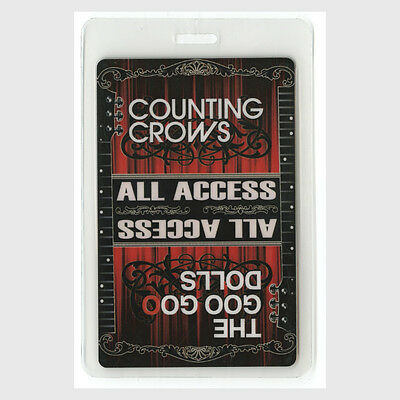 Counting Crows ALL ACCESS 2008 Laminated Backstage Pass Tour Goo Goo Dolls