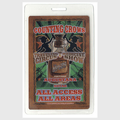 Counting Crows ALL ACCESS 2009-2010 Laminated Backstage Pass