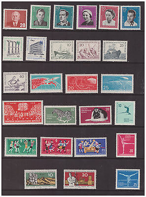 Germany DDR 1961 selection of mint hinged sets 2 scans