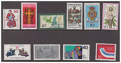 Germany West 1975 mint  MNH stamps selection of 10 difference issues