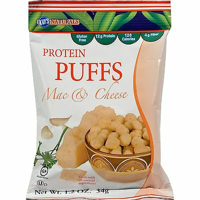 Kay's Naturals Protein Puffs - Mac and Cheese - Case of 6 - 1.2 oz