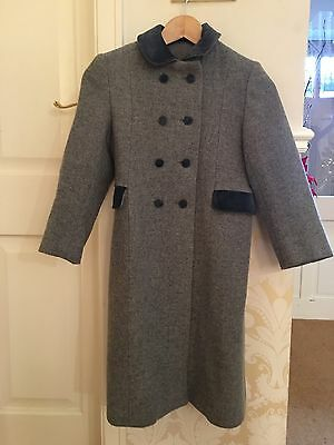 Girl's Or Boy's Age 8 Grey Wool Coat