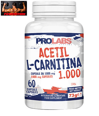 PROLABS - ACETIL L-CARNITINA 1000 Mg - 60 compresse - Dimagrante Brucia Grassi
