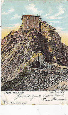 SWITZERLAND 1905  postc. SANTISEIDG.OBSERVATORIUM  st. canc. NEUKIRCH to ITALY