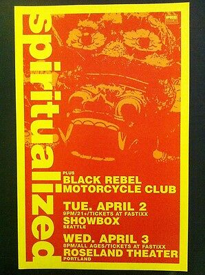 Spiritualized Black Rebel Motorcycle Club Rare Original Tiki Concert Tour Poster