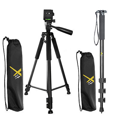 "XIT 60"" Tripod + XIT 72"" Monopod for All Cameras / Camcorders"
