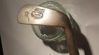 Gibson W H Webb Golf Club Hickory Wood Shaft Dot Faced - Antique