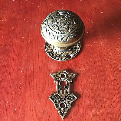 Antique Collectible NashuaEASTLAKE  Door Knob & Matching Rosette And Keyhole  #2