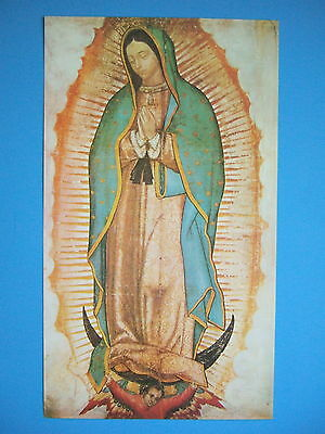 """Catholic Print Picture VIRGIN MARY Our Lady Guadalupe 8x14"""" ready to frame"""