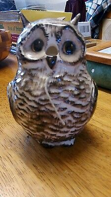 Babbacoombe  Pottery  Owl String Holder Very Good  Condition