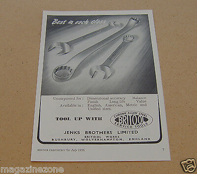 BRITOOL SPANNERS original magazine advert from / dated 1956